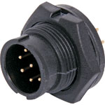 P9500 8 Pin 5A Locking Male Chassis IP67 Waterproof Plug