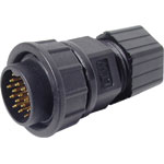 P9506 18 Pin 5A Locking Male Line IP67 Waterproof Plug