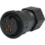 P9605 5 Pin 20A Locking Female Line IP66 Waterproof Socket