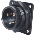 P9613 3 Pin 20A Locking Male Chassis IP66 Waterproof Plug