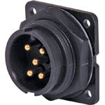 P9615 5 Pin 20A Locking Male Chassis IP66 Waterproof Plug