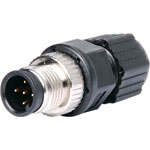 P9870 5 Pin 4A M12 Screw-On Line Male IP68 Waterproof