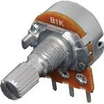 R2223 1k Lin 18T Spline 16mm Single Horizontal PCB Pot
