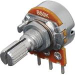 R2227 50k Lin 18T Spline 16mm Single Horizontal PCB Pot