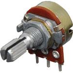 R2231 1k Log 18T Spline 16mm Single Horizontal PCB Pot