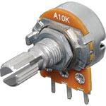 R2233 10k Log 18T Spline 16mm Single Horizontal PCB Pot