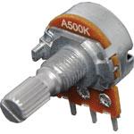 R2237 500k Log 18T Spline 16mm Single Horizontal PCB Pot