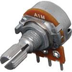 R2238 1M Log 18T Spline 16mm Single Horizontal PCB Pot