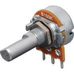 R2246 100k Lin D Shaft 16mm Single Horizontal PCB Pot