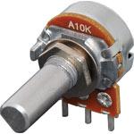 R2253 10k Log D Shaft 16mm Single Horizontal PCB Pot