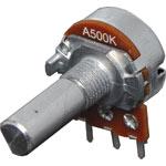 R2257 500k Log D Shaft 16mm Single Horizontal PCB Pot