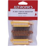 R3501 Assorted 0.25W Carbon Film 5% Resistors 300 Piece Pk
