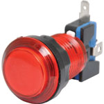 S0910 Red Arcade Style Momentary LED Illuminated Switch