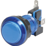 S0912 Blue Arcade Style Momentary LED Illuminated Switch