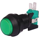 S0921 SPDT Momentary LED Green Panel Mount Pushbutton Switch