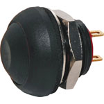 S0961 SPST IP67 Rated Momentary Black Pushbutton Switch
