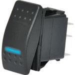 S1022 DPST Blue Illuminated IP66 Marine 12V/24V Rocker Switch