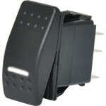 S1023 DPST White Illuminated IP66 Marine 12V/24V Rocker Switch