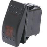 S1026 SPST Red Illuminated IP66 Marine 12V/24V Rocker Switch