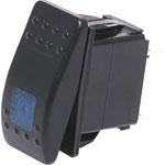 S1027 SPST Blue Illuminated IP66 Marine 12V/24V Rocker Switch