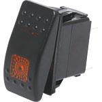 S1028 SPST Orange Illuminated IP66 Marine 12V/24V Rocker Switch