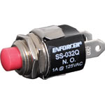S1062 SS-032Q Normally Open (N/O) Red SPST Pushbutton Switch