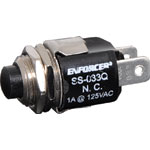 S1072 Normally Closed (N/C) Black SPST Pushbutton Switch