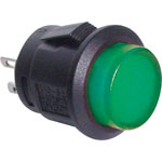 S1085 SPST Momentary LED Green Solder Tail Pushbutton Switch