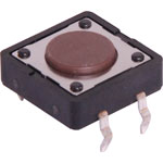 S1125 SPST Momentary PCB Mount 4.3mm Tactile Switch