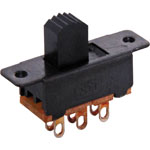 S2010 DPDT Solder Tail Sub Miniature Slide Switch