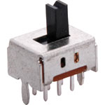 S2075 DPDT PCB Mount Sub Miniature Slide Switch