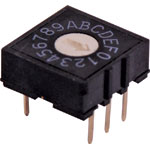 S3000A 5 Pin Hexidecimal PCB Mount Rotary Switch