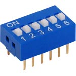 S3055 6 Way DIP Switch