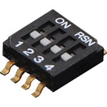 S3104 4 Way Half Pitch SMD DIP Switch