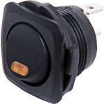 S3190 SPST Red LED Round (Square Facia) Rocker Switch