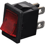 S3217 DPST Red Illuminated Mini Rocker Switch