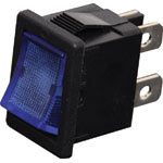 S3218 DPST Blue Illuminated Mini Rocker Switch