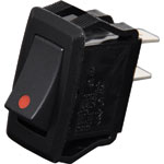 S3225 SPST Heavy Duty Red Rocker Switch