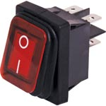 S3244 DPST 16A IP65 Weatherproof Rocker Switch