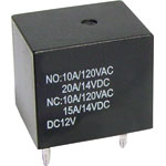 S4402A 12VDC 10A SPDT PCB Mount Relay