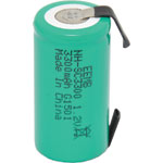 S4750A Sub C 3300mAh NiMh Rechargeable Battery