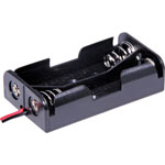 S5057 2 X AA Battery Holder With Fly Leads