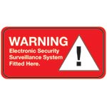 S5405 Small Alarm Warning Sticker Pair