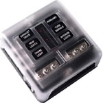 S6029 Blade Fuse Panel 6 Way With LED