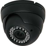 SB9121E 720p AHD / 960H Vandal Resistant Vari-Focal IP65 IR Black Dome Camera