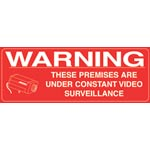S9260 200x75mm CCTV Surveillance Stickers