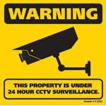 S9263 CCTV Surveillance Corflute Sign 200 x 200mm