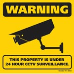 S9264 300x300mm CCTV Surveillance Corflute Sign