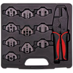 T2178 10 Jaw Magnetic Ratchet Universal Crimptool Kit