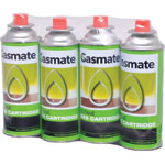 T2455 Gasmate Butane Gas Canisters 4pk - Suit T 2497